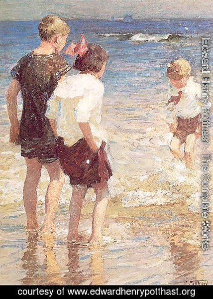 Edward Henry Potthast - Children at Shore No. 3