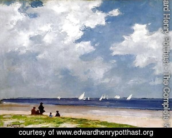 Edward Henry Potthast - Sailboats off Far Rockaway