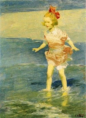 Edward Henry Potthast - In the Surf