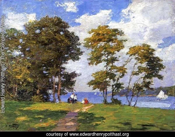 Landscape by the Shore (or The Picnic)