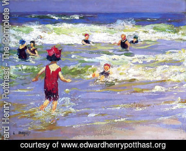 Edward Henry Potthast - Little Sea Bather