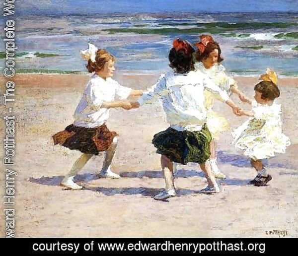 Edward Henry Potthast - Ring around the Rosy