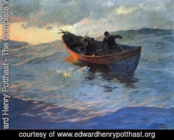 Edward Henry Potthast - Struggle for the Catch