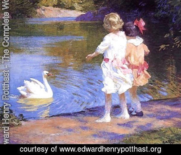 Edward Henry Potthast - The Swan