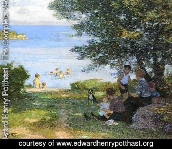 Edward Henry Potthast - By the Water