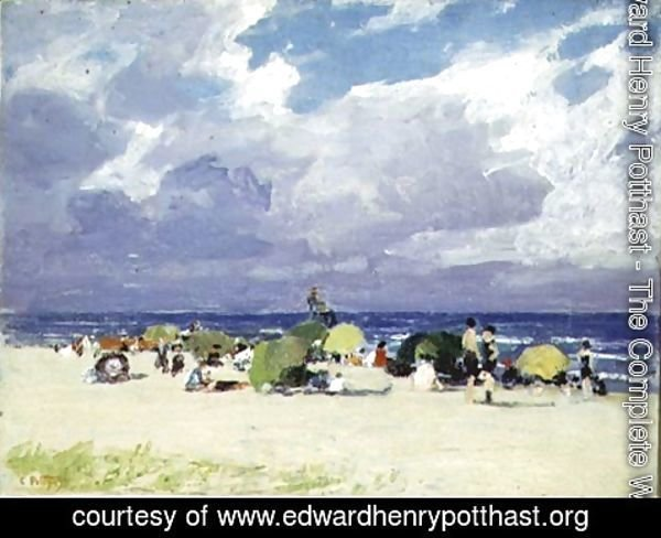 Edward Henry Potthast - Purple Beach Scene
