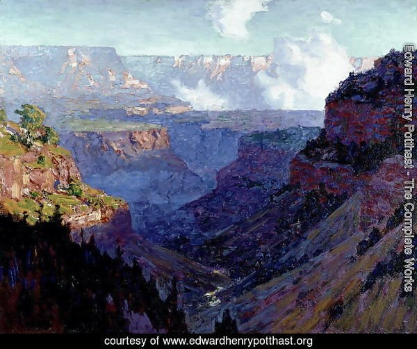 Looking Across the Grand Canyon, c.1910