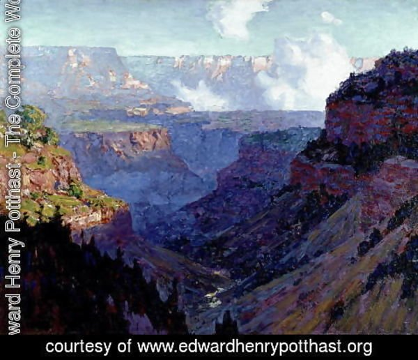 Edward Henry Potthast - Looking Across the Grand Canyon, c.1910