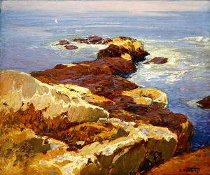 Edward Henry Potthast - Rocks and Sea