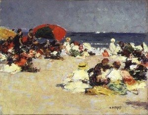 Edward Henry Potthast - On the Beach at Trouville c.1865