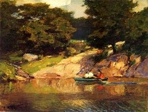 Edward Henry Potthast - Boating in Central Park, c.1900-05