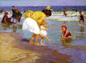 Edward Henry Potthast - At the Seaside 2