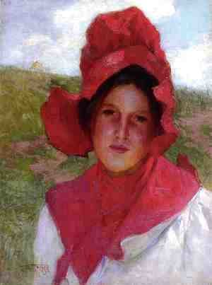 Girl in a Red Bonnet