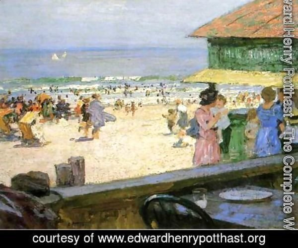 Edward Henry Potthast - Beach Scene I