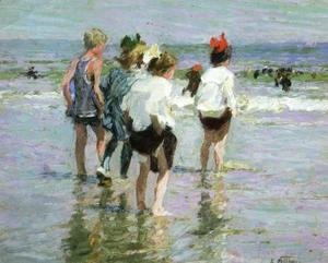 Edward Henry Potthast - Summer Day, Brighton Beach