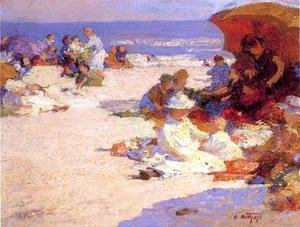 Edward Henry Potthast - Picknickers on the Beach