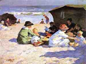 Edward Henry Potthast - A Day at the Seashore