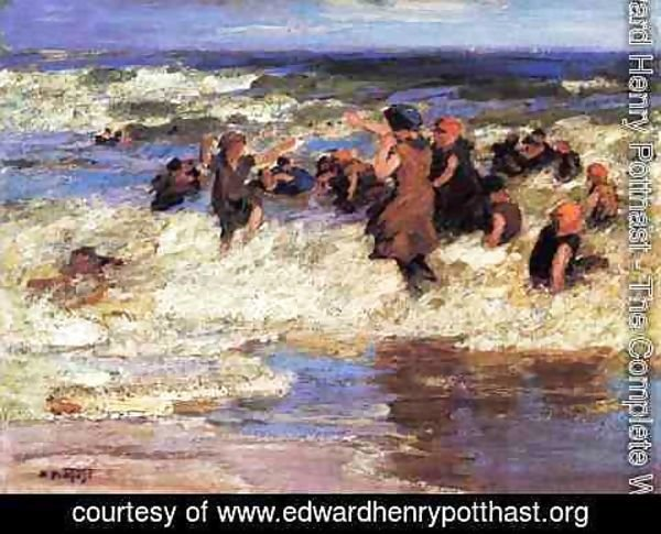 Edward Henry Potthast - Surf Bathing