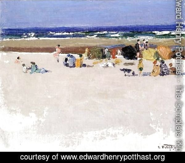 Edward Henry Potthast - On the Beach I