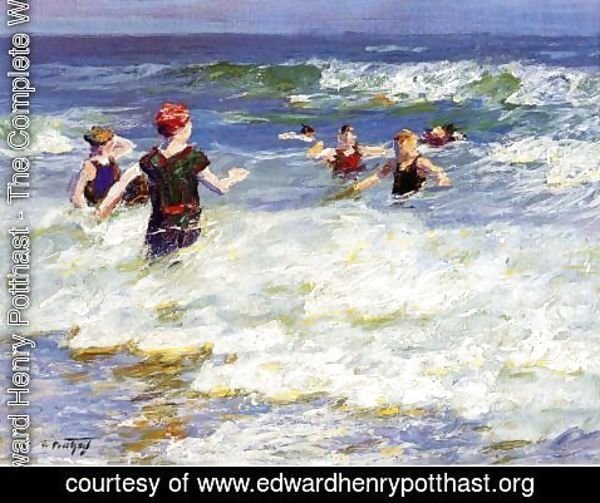 Edward Henry Potthast - In the Surf I