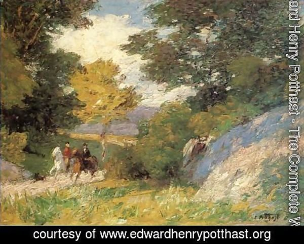 Edward Henry Potthast - Bridal Path