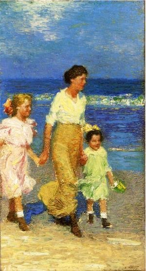 Edward Henry Potthast - A Walk on the Beach
