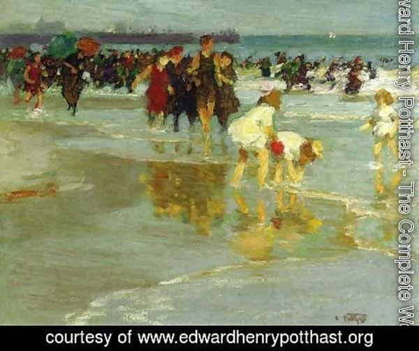 Edward Henry Potthast - Bathers I