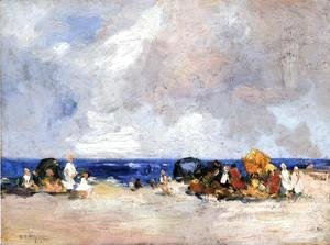 Edward Henry Potthast - A Day at the Beach