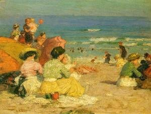 Edward Henry Potthast - A Day at the Beach I