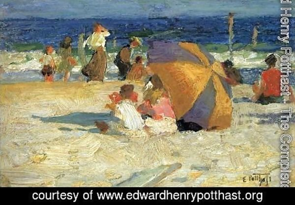 Edward Henry Potthast - Beach Umbrella