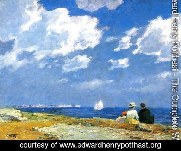 Edward Henry Potthast - Along the Shore