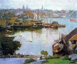Edward Henry Potthast - Harbor Village