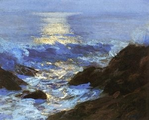 Edward Henry Potthast - Seascape Moonlight
