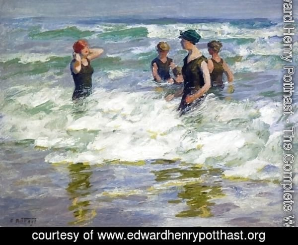Edward Henry Potthast - Bathers in the Surf I