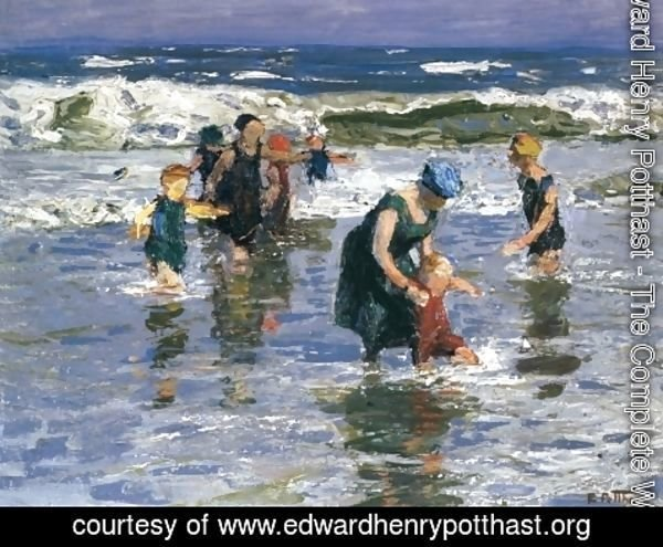 Edward Henry Potthast - In the Surf II
