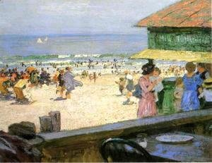 Edward Henry Potthast - Beach Scene 5