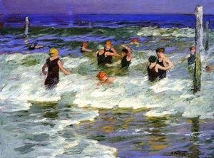 Edward Henry Potthast - Bathers in the Surf -2