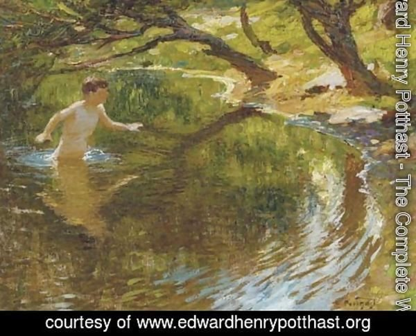 Edward Henry Potthast - Bathing Boy
