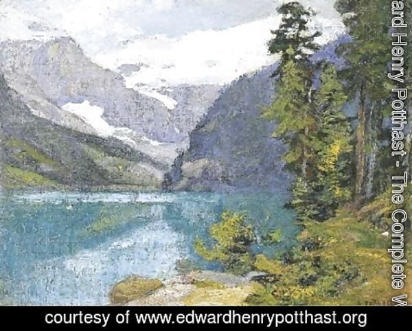 Edward Henry Potthast - Lake Louise, British Columbia