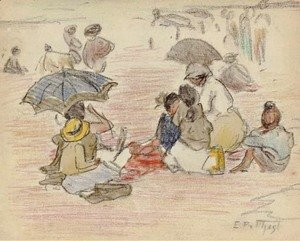 Edward Henry Potthast - A Day at the Beach 2