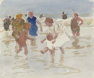 Edward Henry Potthast - Bathers in the Surf 3