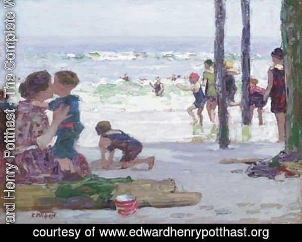 Edward Henry Potthast - Beach Scene 2