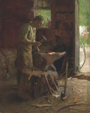 Edward Henry Potthast - The Blacksmith