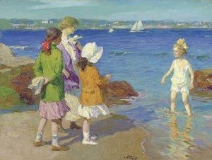 Edward Henry Potthast - The Water's Fine