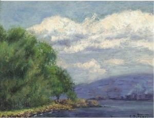 Edward Henry Potthast - Hudson Valley Landscape