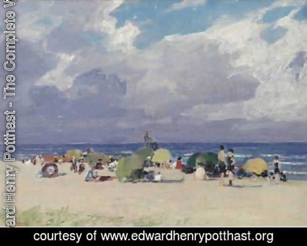Edward Henry Potthast - A Day At The Beach 3