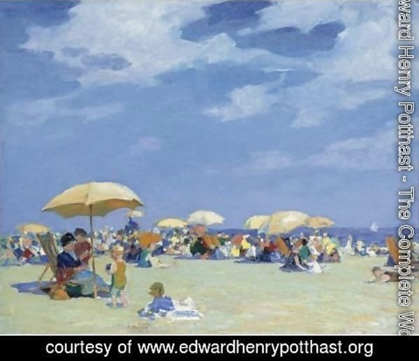 Edward Henry Potthast - Beach At Far Rockaway