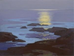Edward Henry Potthast - Moonlight, The Coast Of Maine