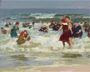 Edward Henry Potthast - At The Beach 2