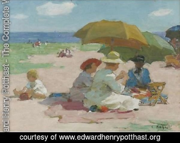 Edward Henry Potthast - At The Beach 3